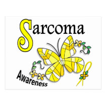 Stained Glass Butterfly 2 Sarcoma Postcard