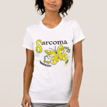 Stained Glass Butterfly 2 Sarcoma T-Shirt