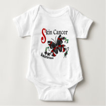 Stained Glass Butterfly 2 Skin Cancer Baby Bodysuit