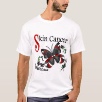 Stained Glass Butterfly 2 Skin Cancer T-Shirt