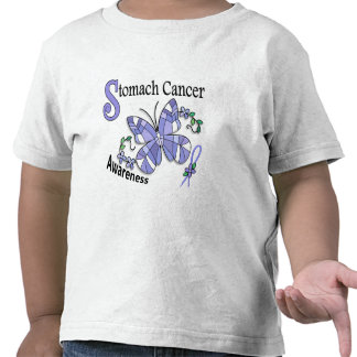 Stained Glass Butterfly 2 Stomach Cancer Shirts