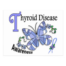 Stained Glass Butterfly 2 Thyroid Disease Postcard