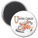 Stained Glass Butterfly 2 Uterine Cancer Refrigerator Magnet
