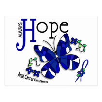 Stained Glass Butterfly Anal Cancer Postcard
