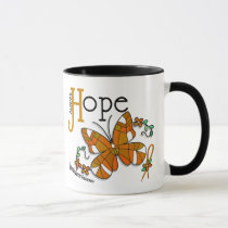 Stained Glass Butterfly Appendix Cancer Mug