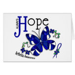 Stained Glass Butterfly Arthritis Card