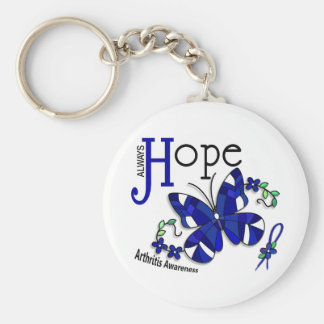 Stained Glass Butterfly Arthritis Keychains