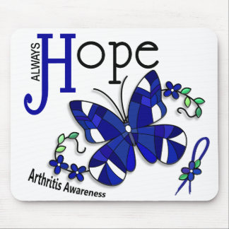Stained Glass Butterfly Arthritis Mousepads