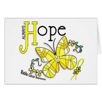 Stained Glass Butterfly Bladder Cancer Card