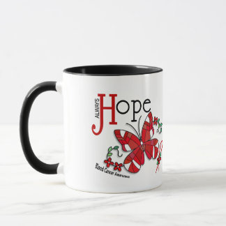Stained Glass Butterfly Blood Cancer Mug