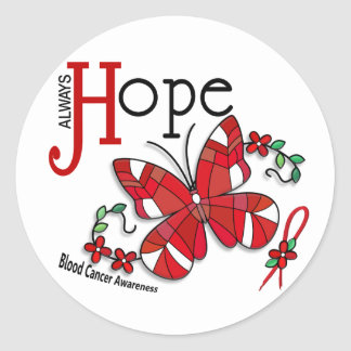 Stained Glass Butterfly Blood Cancer Sticker