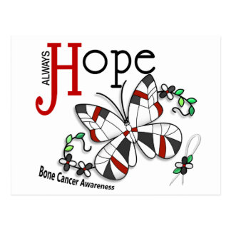 Stained Glass Butterfly Bone Cancer Postcard
