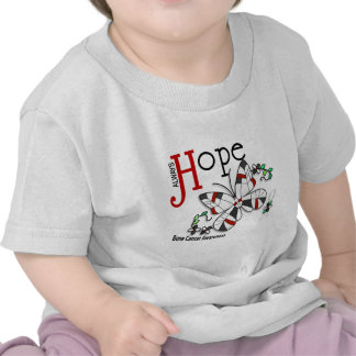Stained Glass Butterfly Bone Cancer Tee Shirts
