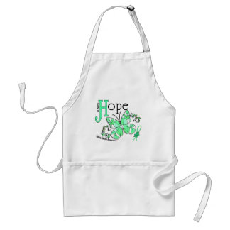 Stained Glass Butterfly Celiac Disease Adult Apron