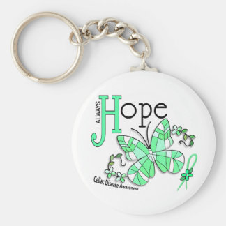 Stained Glass Butterfly Celiac Disease Key Chain