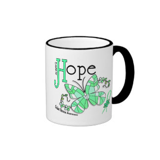 Stained Glass Butterfly Celiac Disease Ringer Coffee Mug