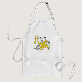 Stained Glass Butterfly Childhood Cancer Adult Apron