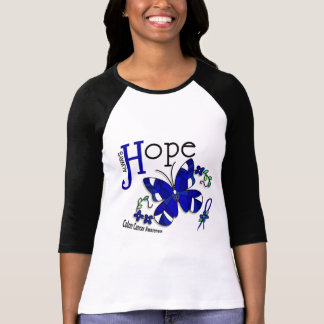Stained Glass Butterfly Colon Cancer Tees