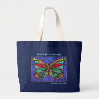 Stained Glass Butterfly--cool art to wear or give! Bag
