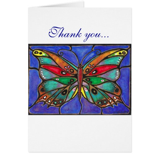 Stained Glass Butterfly--cool art to wear or give! Card