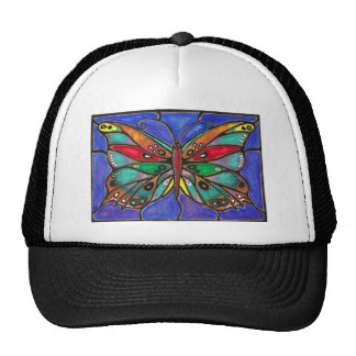 Stained Glass Butterfly--cool art to wear or give! Trucker Hat