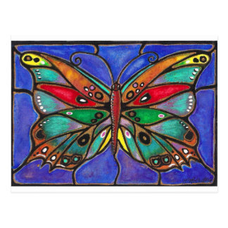 Stained Glass Butterfly--cool art to wear or give! Postcard