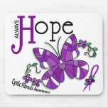 Stained Glass Butterfly Cystic Fibrosis Mouse Pad