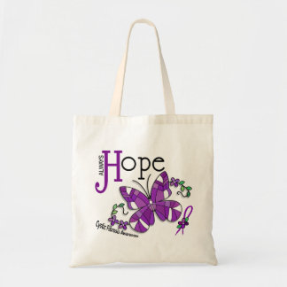 Stained Glass Butterfly Cystic Fibrosis Tote Bag