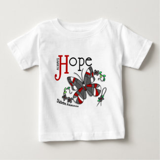 Stained Glass Butterfly Diabetes Baby T-Shirt
