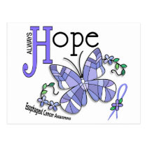 Stained Glass Butterfly Esophageal Cancer Postcard