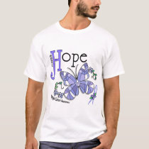 Stained Glass Butterfly Esophageal Cancer T-Shirt