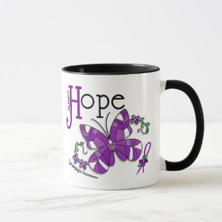 Stained Glass Butterfly Fibromyalgia Mug