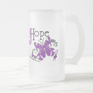 Stained Glass Butterfly Fibromyalgia Coffee Mugs