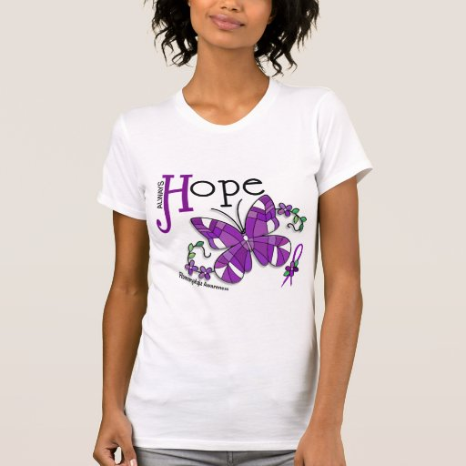 Stained Glass Butterfly Fibromyalgia T Shirt
