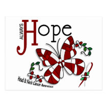 Stained Glass Butterfly Head And Neck Cancer Postcard