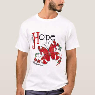 Stained Glass Butterfly Heart Disease T-Shirt