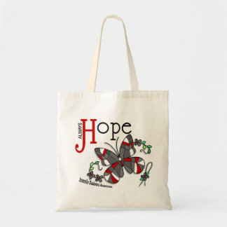 Stained Glass Butterfly Juvenile Diabetes Tote Bag