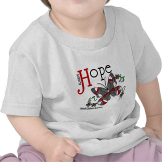 Stained Glass Butterfly Juvenile Diabetes Tees