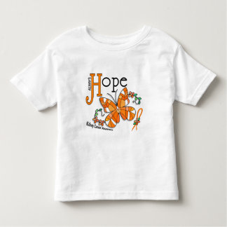 Stained Glass Butterfly Kidney Cancer Toddler T-shirt