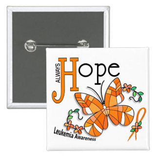 Stained Glass Butterfly Leukemia Pin