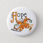 Stained Glass Butterfly Leukemia Button