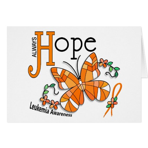 Stained Glass Butterfly Leukemia Greeting Cards