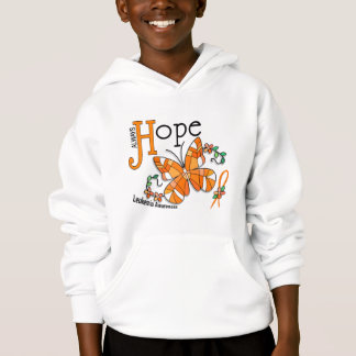 Stained Glass Butterfly Leukemia Hoodie
