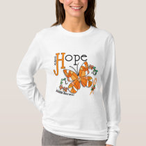 Stained Glass Butterfly Leukemia T-Shirt