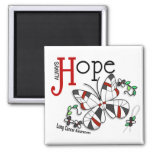Stained Glass Butterfly Lung Cancer Magnet