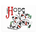 Stained Glass Butterfly Lung Cancer Postcard