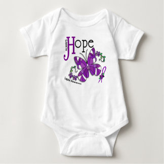 Stained Glass Butterfly Lupus Baby Bodysuit