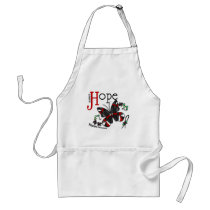 Stained Glass Butterfly Melanoma Adult Apron