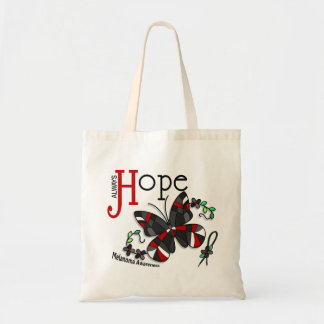 Stained Glass Butterfly Melanoma Budget Tote Bag