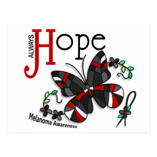 Stained Glass Butterfly Melanoma Postcard